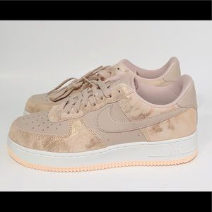 NEW Nike Air Force 1 '07 Low Particle Beige Pink
